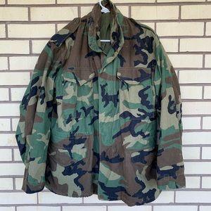 Vintage M65 Jacket Cold Weather Parka Camo Size M